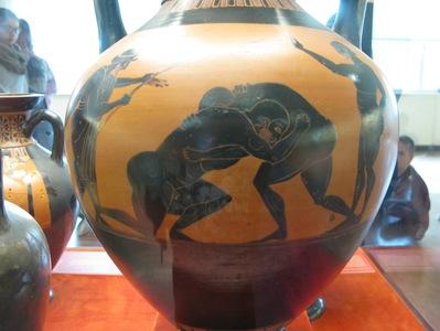 Vase à figures noires - Lutte