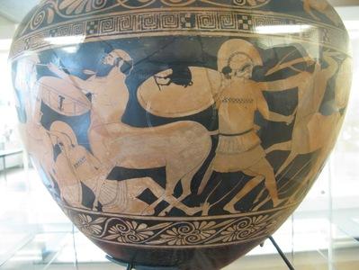 Vase à figures rouges - Centauromachie